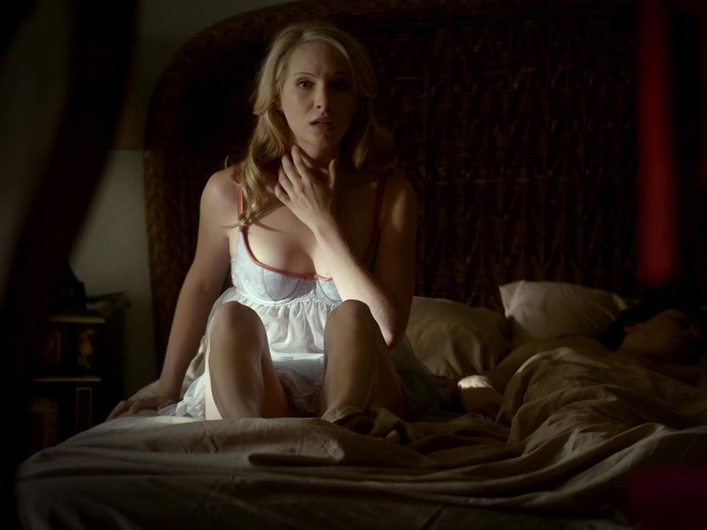 8f22810e73 Caroline Forbes s Sheer Babydoll on The Vampire Diaries
