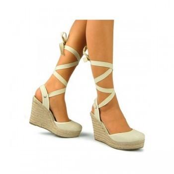 9d0bb8bb841 ALDO Tie Up Espadrille Wedge Platform Sandal Natural | Pradux