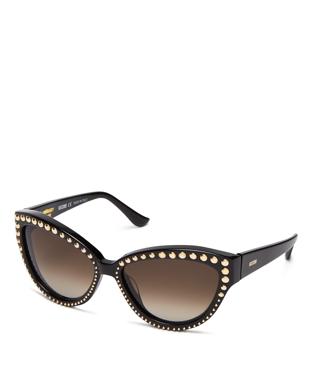 4e9ba2c0ba7aa Moschino Studded Cat Eye Sunglasses