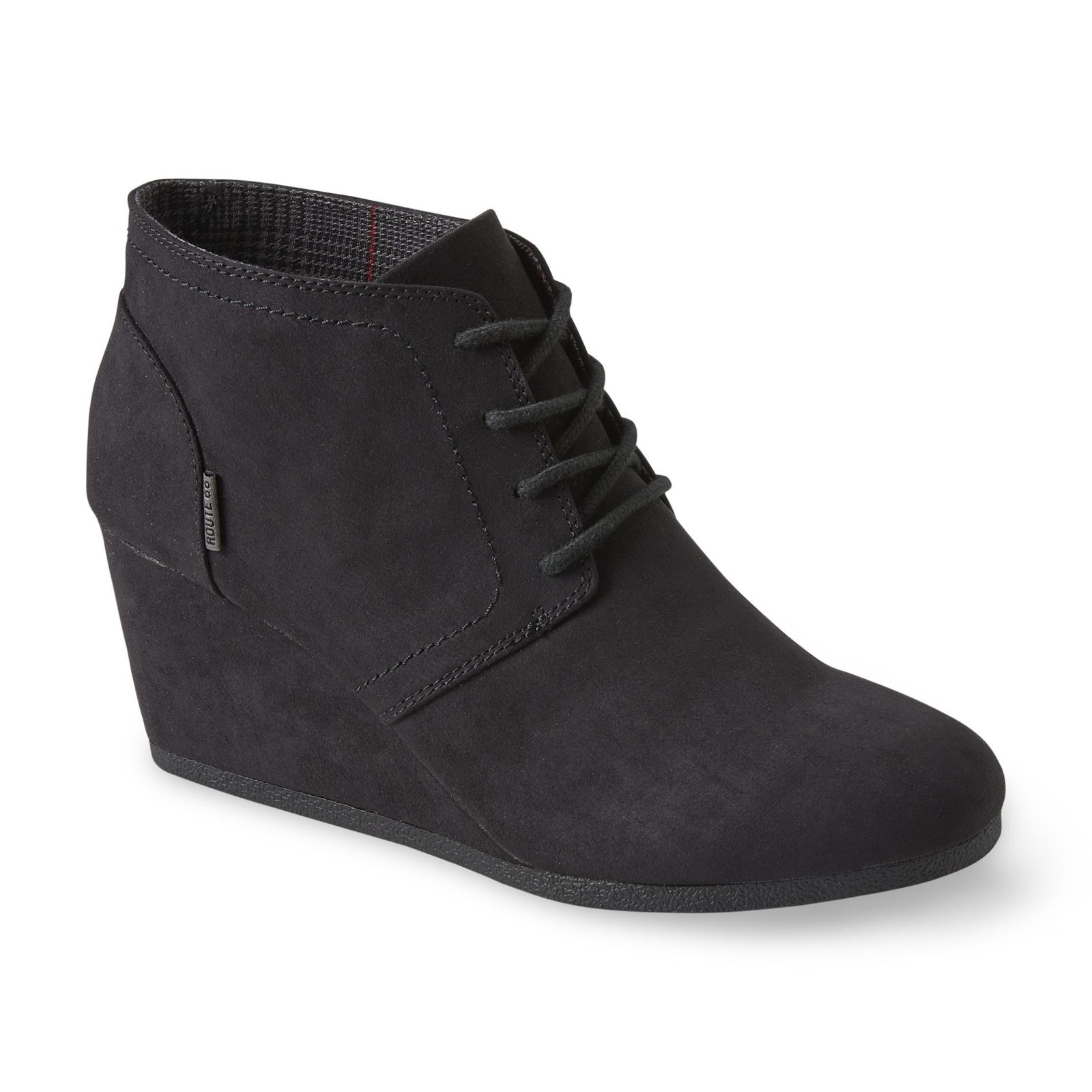 route 66 women's emerson black wedge bootie - clothing, shoes