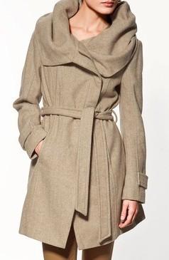 95c84a0ce7 Coat With Wraparound Collar