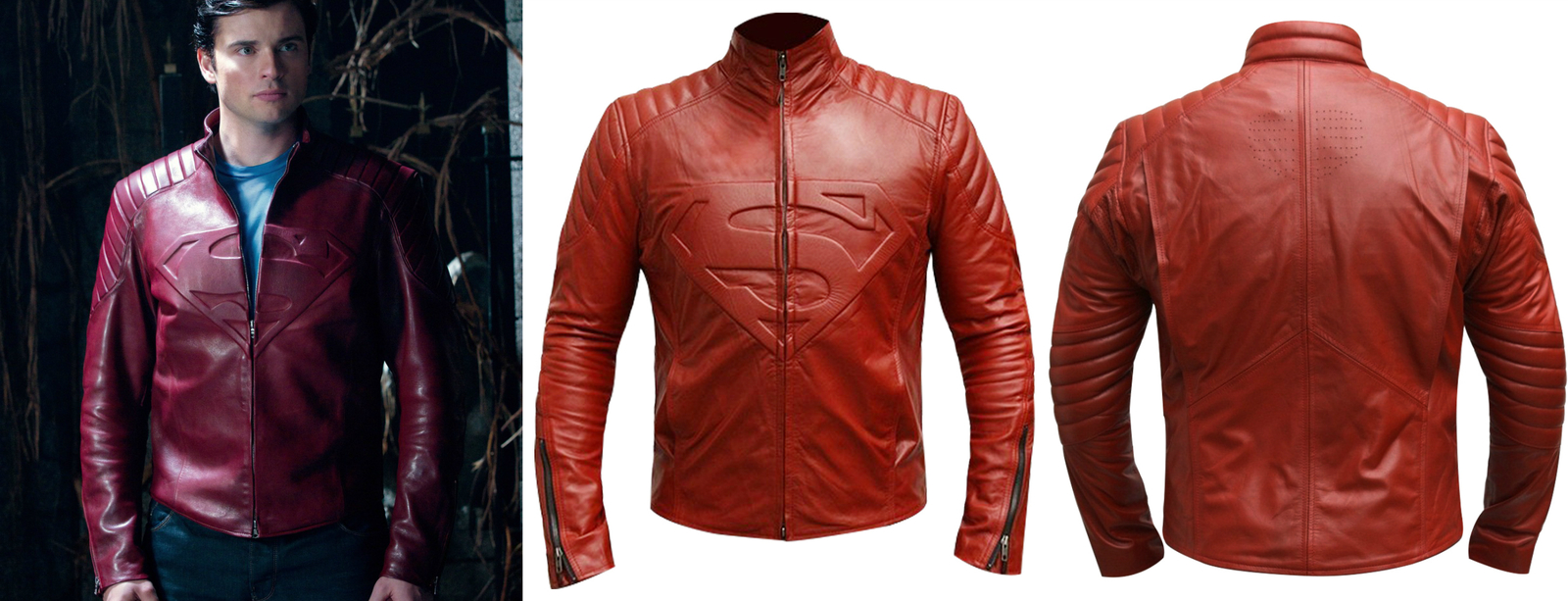 f68c74a9a Tom Welling Superman Red Leather Jacket