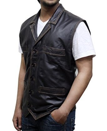 14f1a7768568a Dewuchi Hell on Wheels Cullen Bohannan Real Leather Vest ▻FREE GIFTS◅