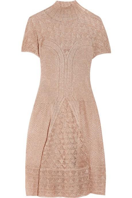 quality design f3032 24aea Metallic Crochet-Knit Dress