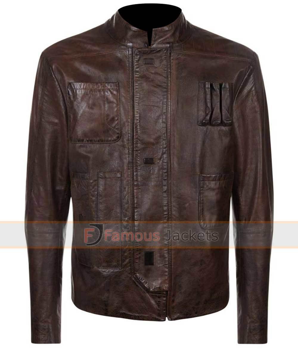 Famous Jackets UK Force Awakens Han Solo Leather Jacket ...