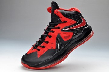 cheap for discount cdae3 92b1e King LeBron James X 10 P.S Elite Varsity Red Black Mens Size Basketball  Shoes