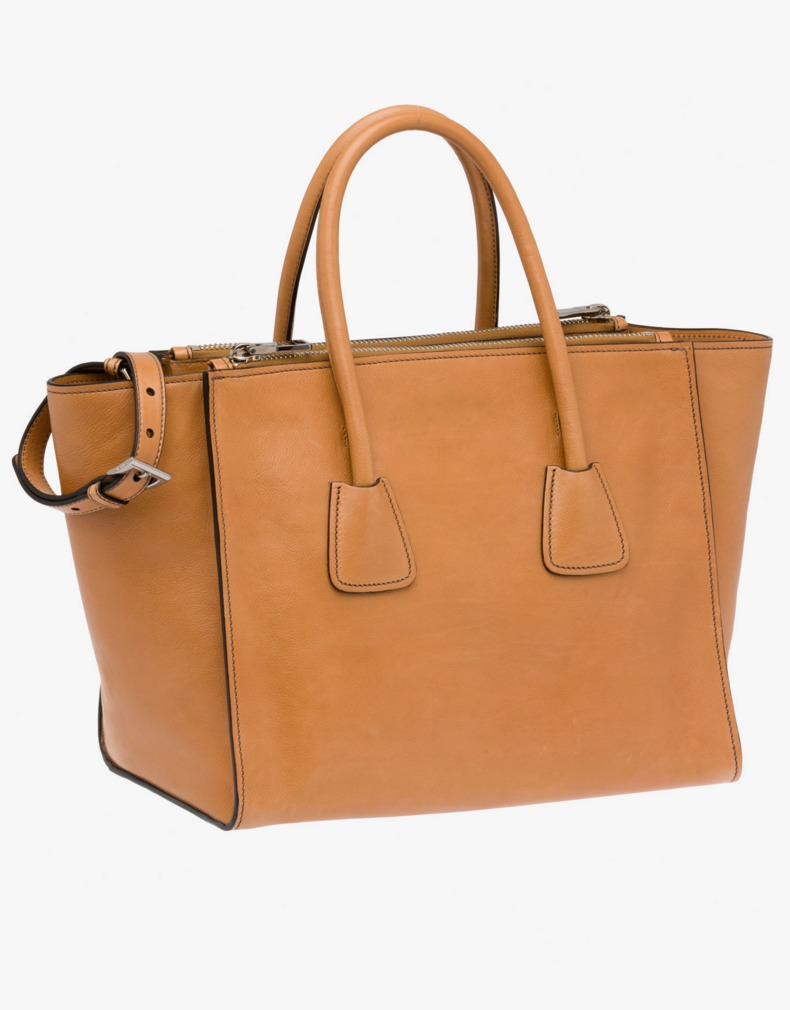 2603e82b0cd2 Prada Glace Calf Leather Tote | Pradux