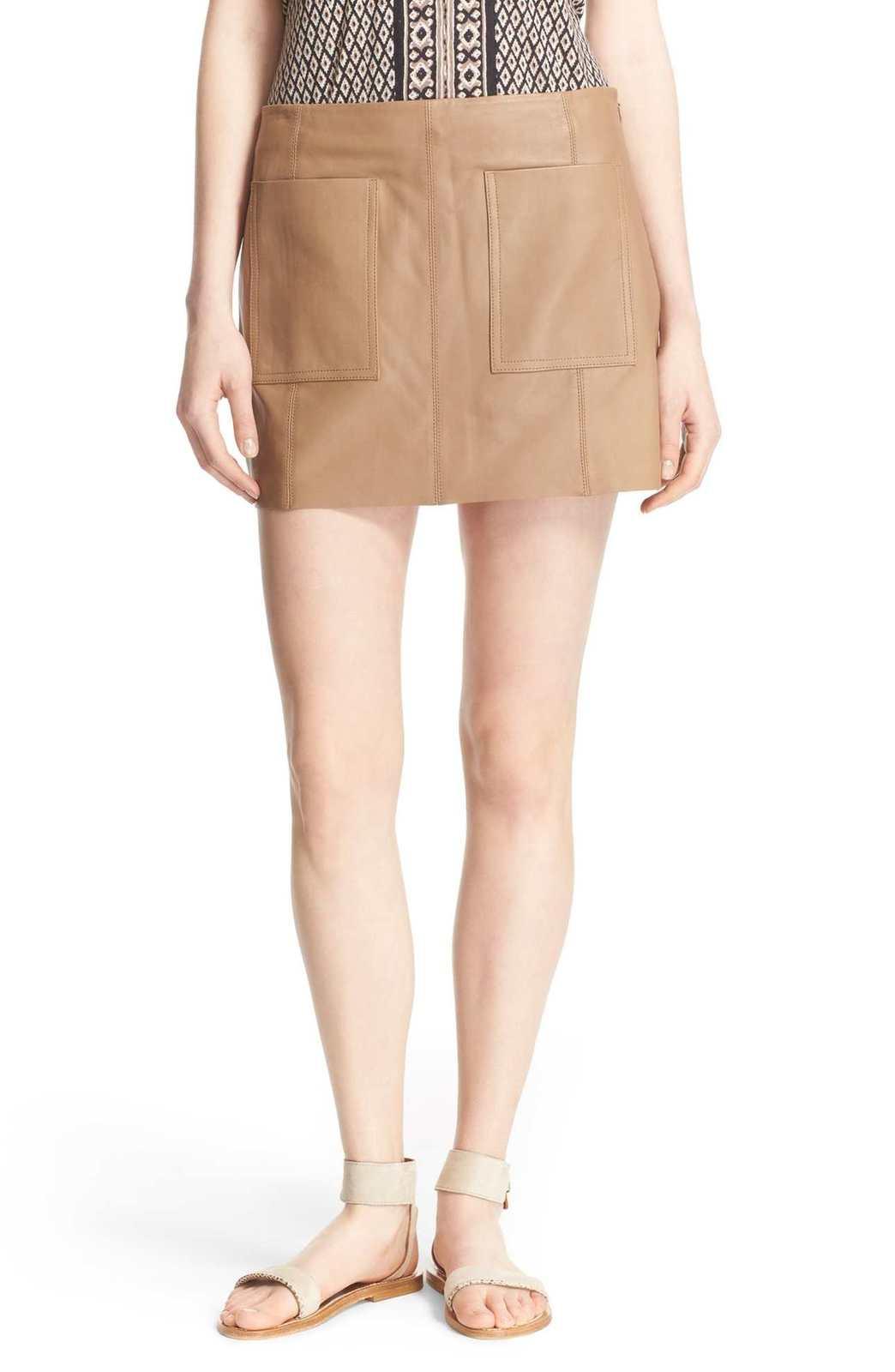 931d4cea34 Joie 'Nephrite' Leather Skirt | Pradux