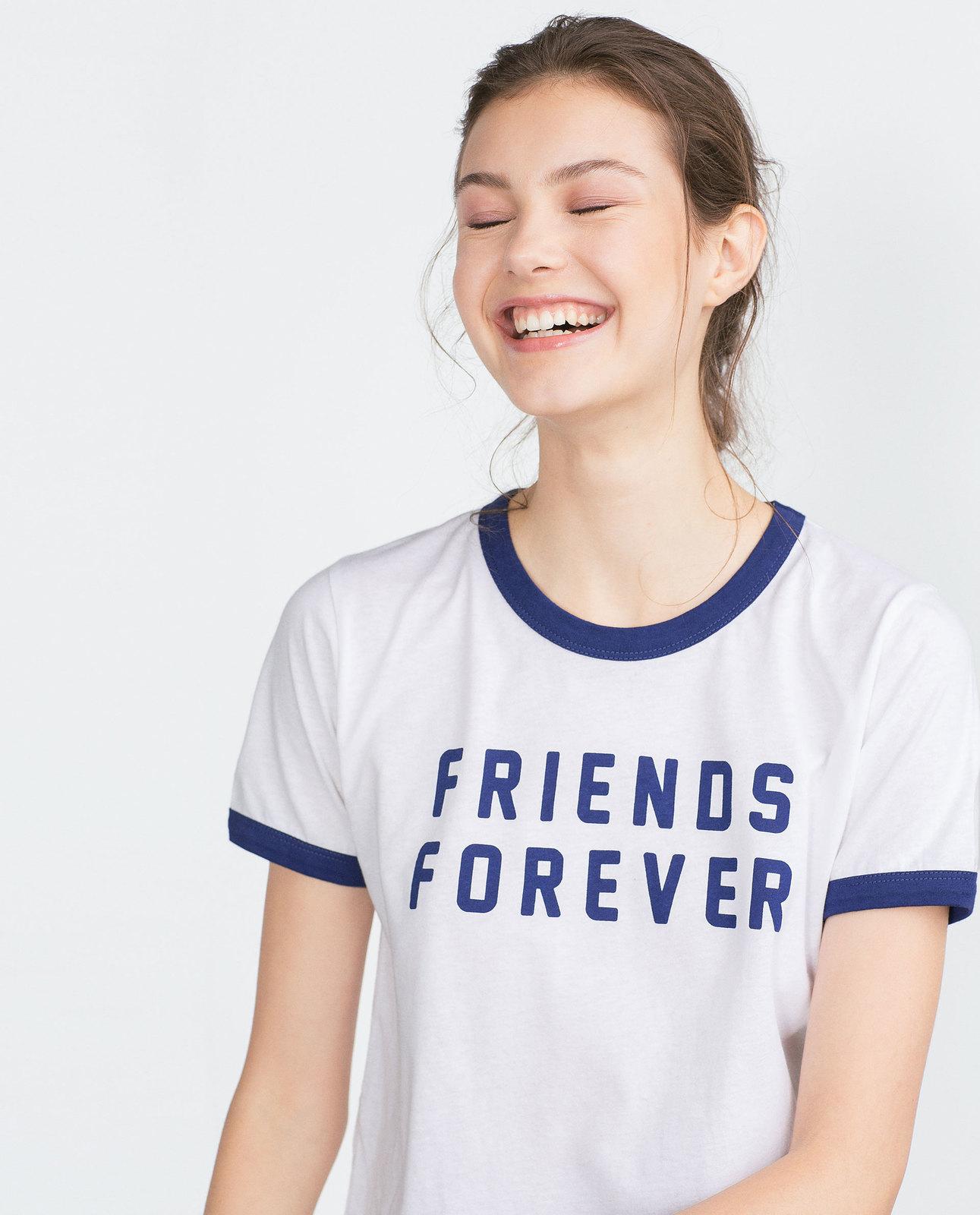 Zara friends t shirt