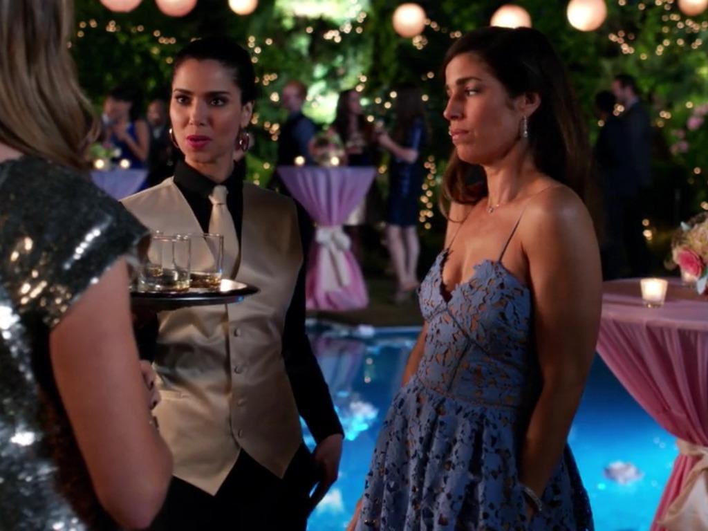 Marisol Suarez's Blue Lace Dress on Devious Maids | Pradux