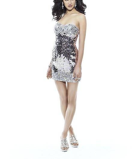 ea99cfb7e6 Val Stefani RB2403 Silver Sequin Cocktail Dress