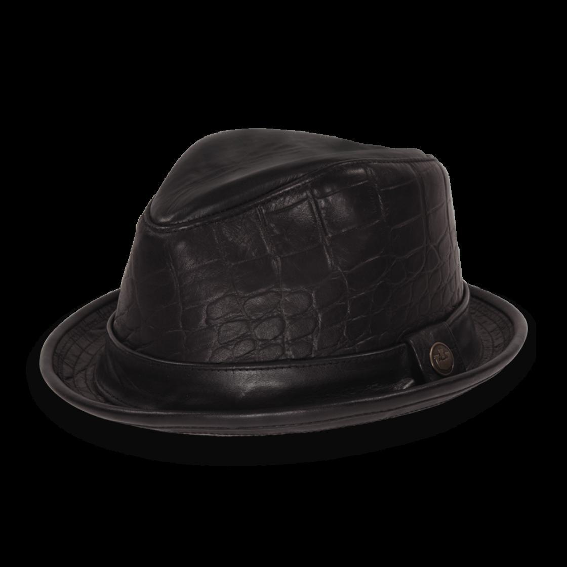 9e347333a60 Goorin Bros Belsky Leather Fedora Hat