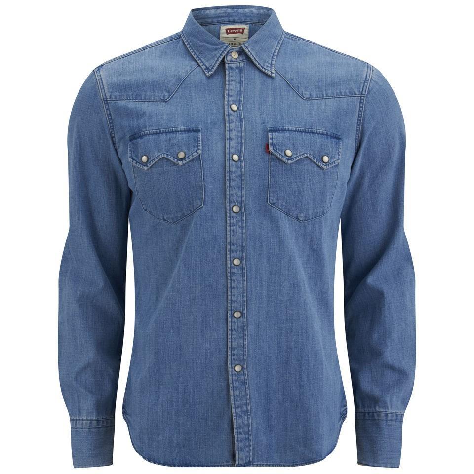 76df45ab Levi's Long Sleeve Slim Fit Sawtooth Western Shirt | Pradux