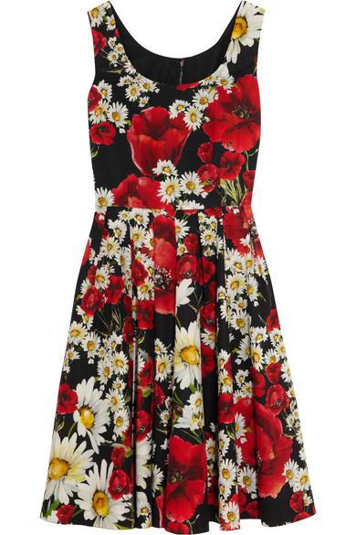 5e488883 Dolce & Gabbana Floral-print cotton-poplin dress | Pradux