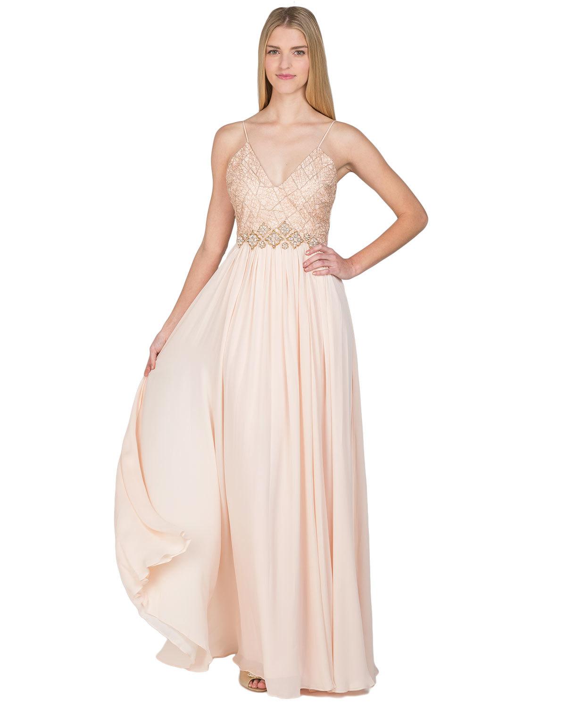 ad2a4e9252bb Badgley Mischka Web Lace Silk Runway Evening Gown | Pradux