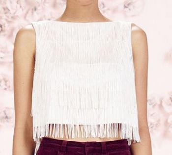 a9f471a08c4 LC Lauren Conrad Runway Collection Tiered Fringe Crop Top - Women's ...