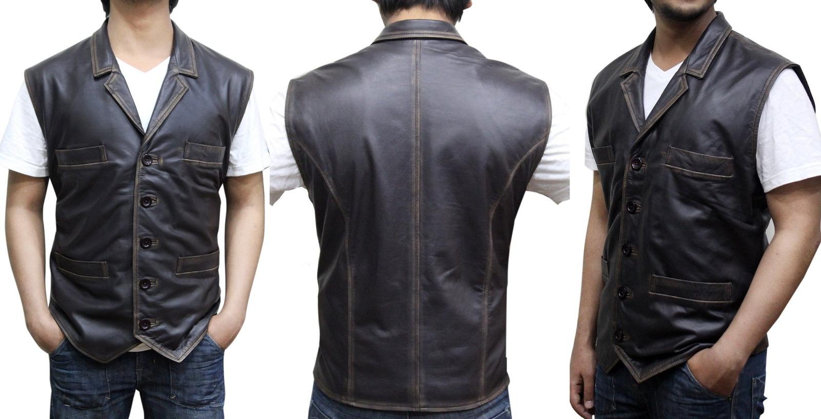 48b8dbe2cec76 Cullen Bohannan Hell on Wheels Real Leather Vest ▻BEST SELLER ...