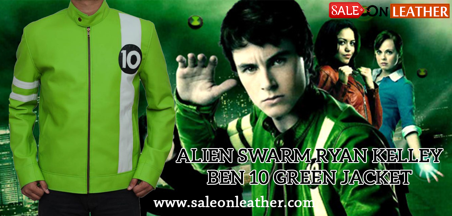 317a6d980 Alien Swarm Ryan Kelley Ben 10 Green Jacket