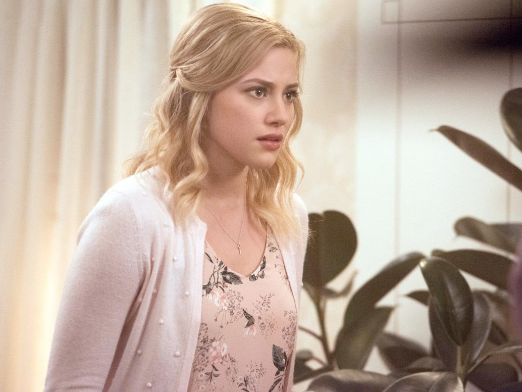 Betty Cooper's Pink Floral Top on Riverdale