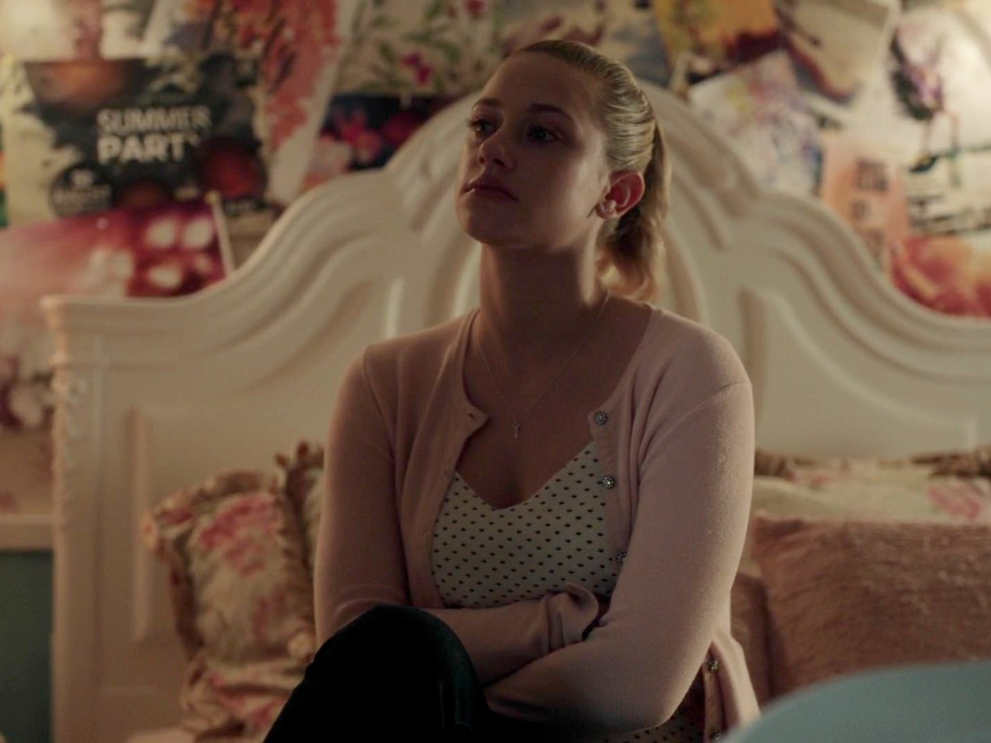 Betty Cooper's Crystal Button Cardigan on Riverdale