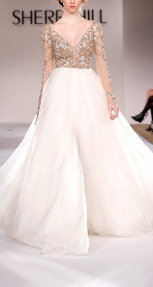 Sherri Hill Fall 2015 Long Sleeve Tulle Gown | Pradux