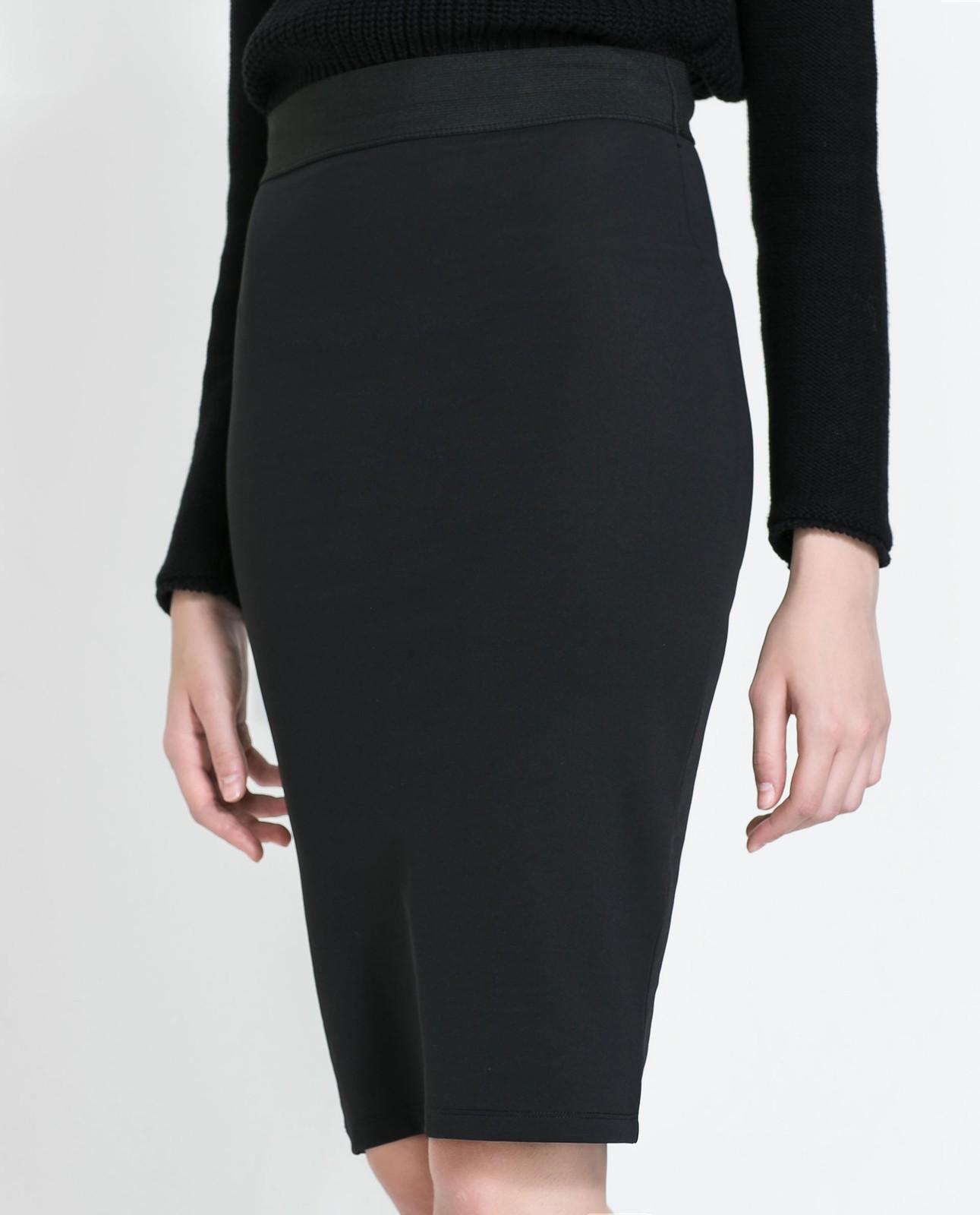 new collection cheap prices uk cheap sale Zara Midi Pencil Skirt With Elastic Waist | Pradux