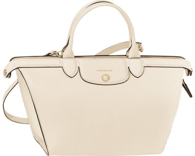 0967c081ea12 Longchamp Le Pliage Heritage Saffiano-Leather Satchel