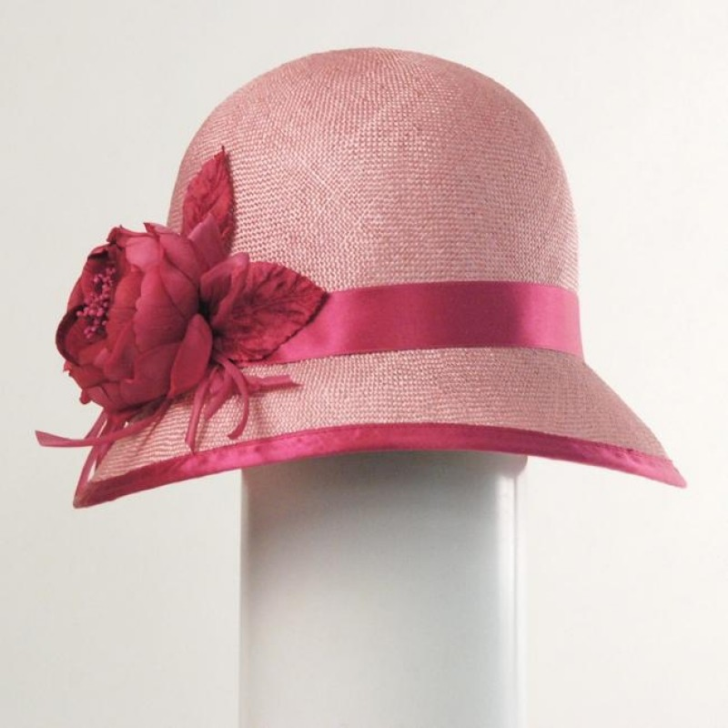 2ae5311c9dfe4c Louise Green Flower Cloche Hat | Pradux