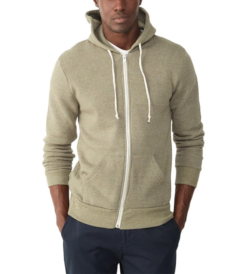 f9df7533 Alternative Apparel Rocky Eco-Fleece Zip Hoodie | Pradux
