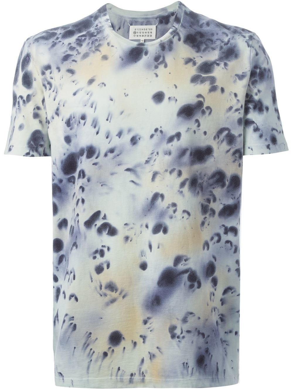 maison margiela tie dye print t shirt pradux. Black Bedroom Furniture Sets. Home Design Ideas