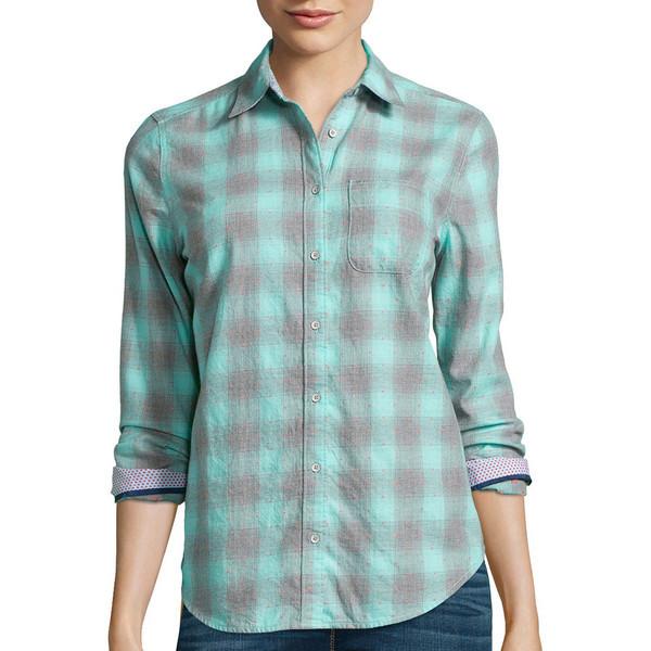 Stylus long sleeve brushed twill plaid shirt pradux for Brushed cotton twill shirt