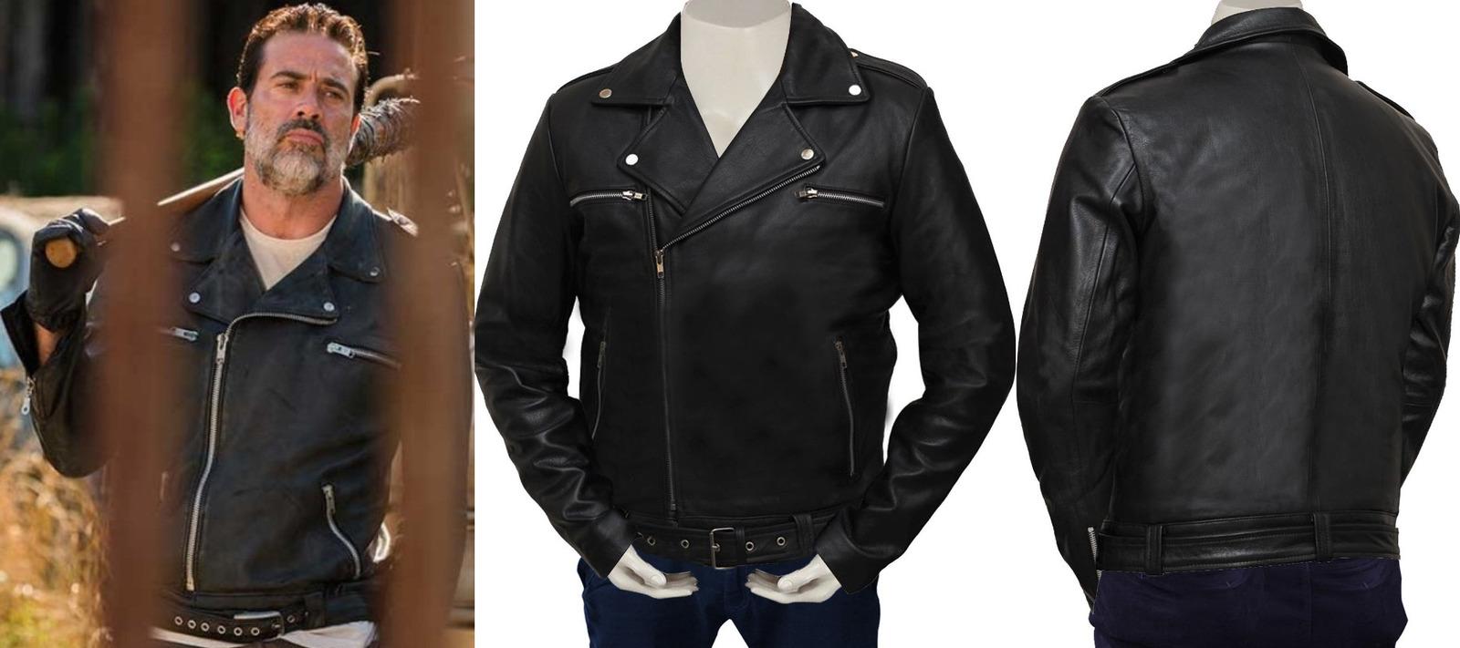 1f0dfec2d The Walking Dead Season 7 Black Negan Real Leather Jacket