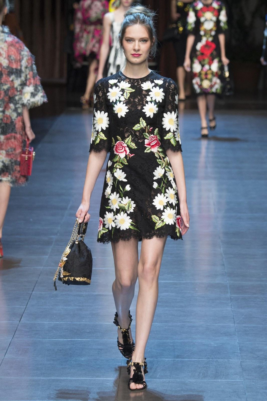 Dolce & Gabbana 2016 Daisy Dress Cheap From China Best Price XfvEKRS6