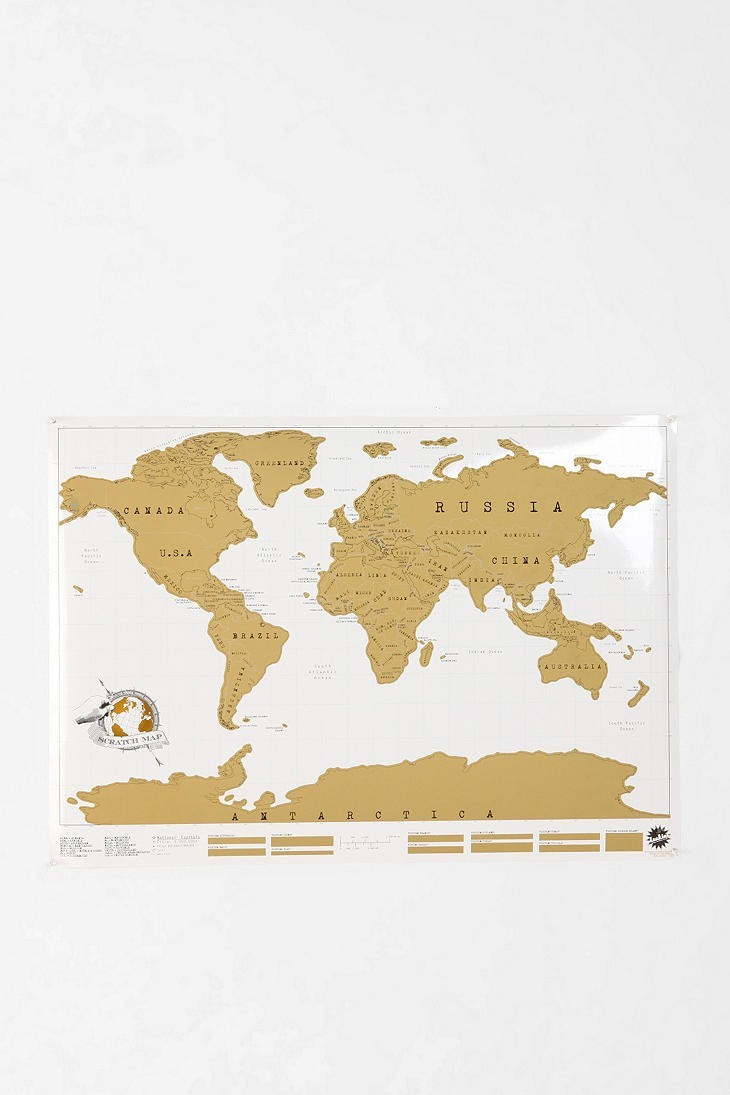 Urban Outfitters Scratch Off World Map Pradux
