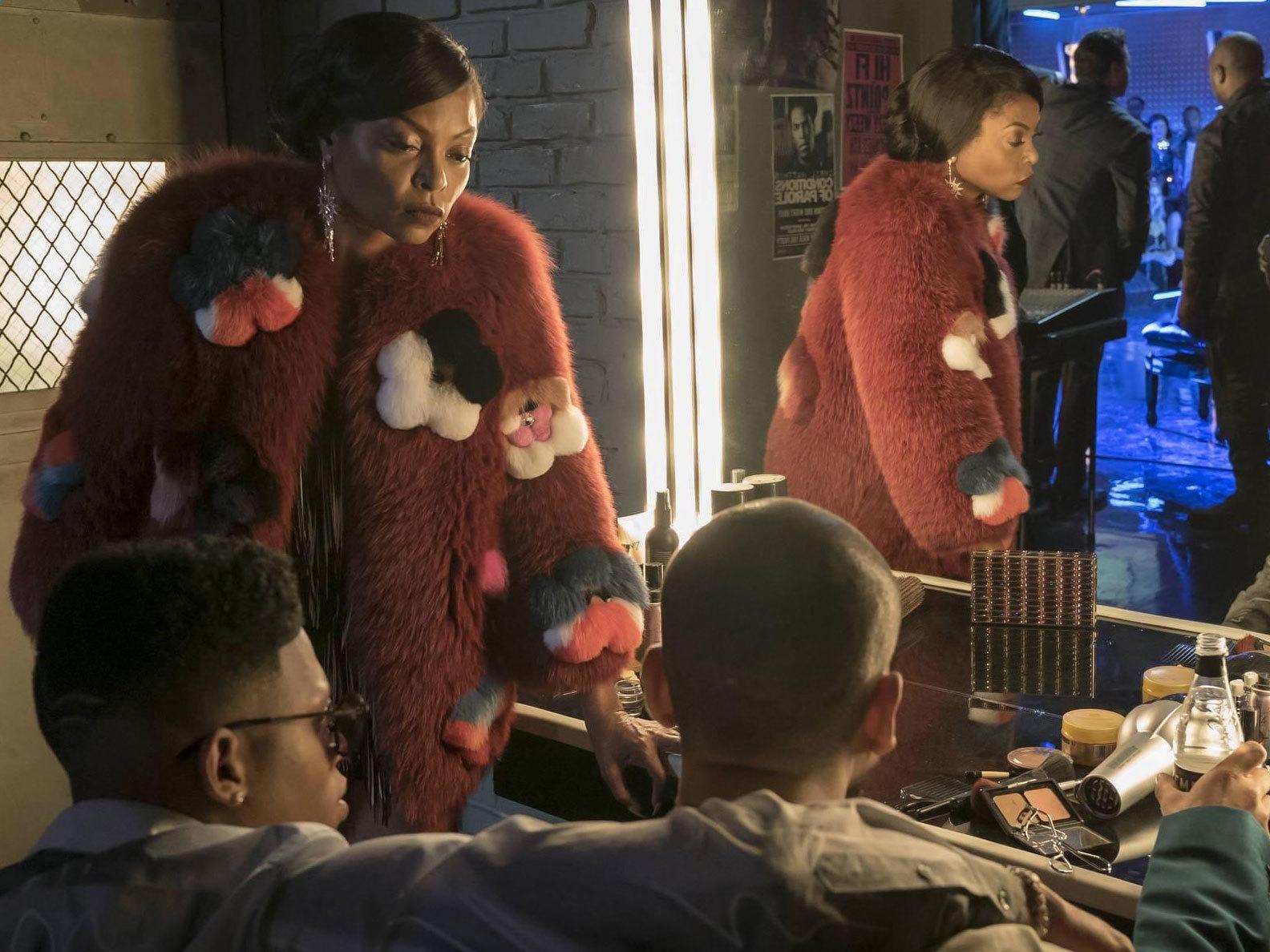 Cookie Lyon's Floral Fur Coat on Empire