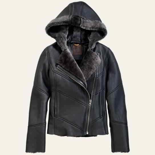 7ee37692648 Timberland Women's Mount Ellen Shearling Leather Jacket | Pradux