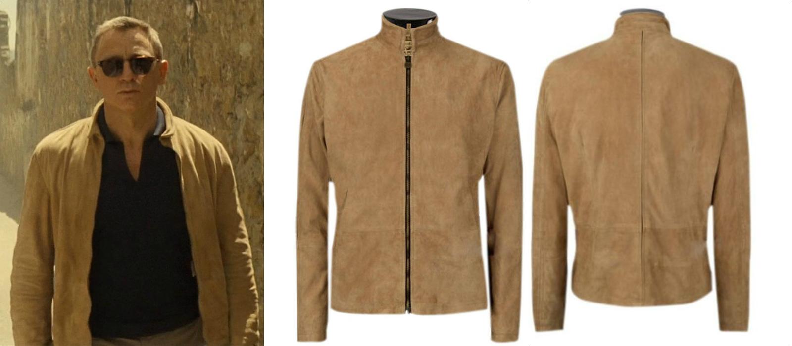 0cf5d50af1646 Daniel Craig Morocco Spectre Brown Jacket
