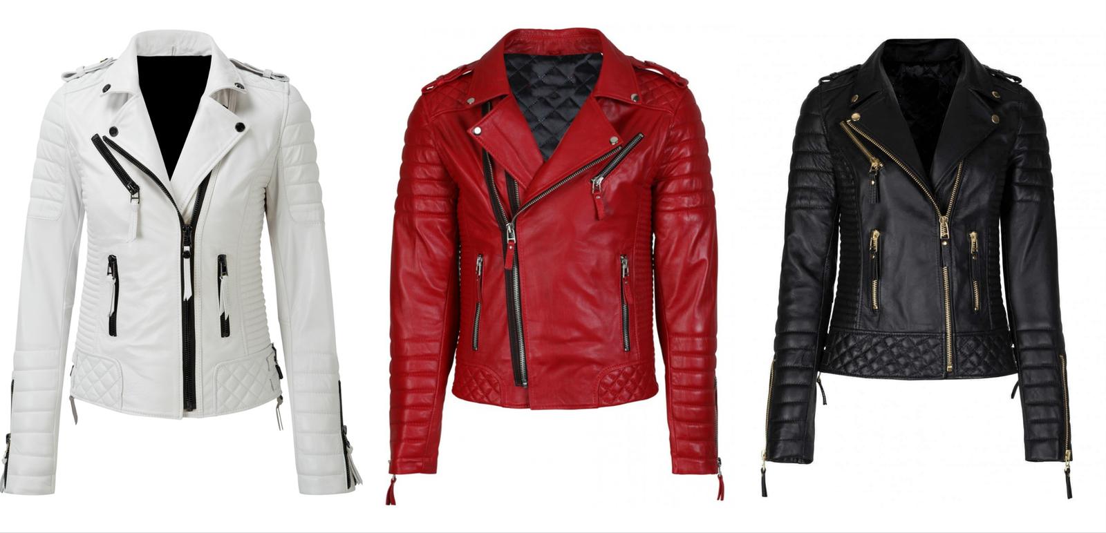 a54d38e4b74 Women's Slim Fit Biker Diamond Quilted Kay Michaels Leather Jacket ...